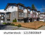 brand new apartment building on ... | Shutterstock . vector #1215800869