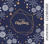 vector snowflake background ...   Shutterstock .eps vector #1215801820