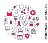 healthcare poster. medical... | Shutterstock .eps vector #1215802543