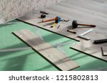 home repairs. laminate... | Shutterstock . vector #1215802813