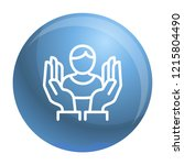 care review icon. outline care...   Shutterstock .eps vector #1215804490