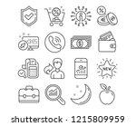 set of shopping cart  debit...   Shutterstock .eps vector #1215809959