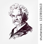 mark twain vector sketch... | Shutterstock .eps vector #1215810613