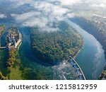 drone image of rhine sinuosity...   Shutterstock . vector #1215812959