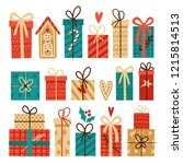 big vector set of christmas... | Shutterstock .eps vector #1215814513