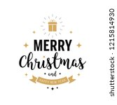 merry christmas greeting text... | Shutterstock .eps vector #1215814930