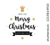 merry christmas greeting text... | Shutterstock .eps vector #1215814933