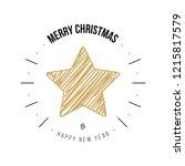 merry christmas greeting... | Shutterstock .eps vector #1215817579