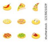 margarita icons set. isometric... | Shutterstock .eps vector #1215821029