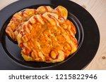 pizza bun  homemade bakery... | Shutterstock . vector #1215822946