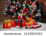 christmas decorations in the... | Shutterstock . vector #1215824353