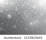 snow and snowflakes background. ... | Shutterstock .eps vector #1215825643