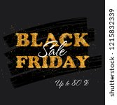 black friday sale banner with... | Shutterstock .eps vector #1215832339