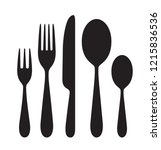the contours of the cutlery.... | Shutterstock .eps vector #1215836536