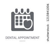 dental appointment icon. trendy ... | Shutterstock .eps vector #1215841006