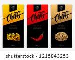 vector set templates packaging...   Shutterstock .eps vector #1215843253