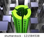 sustainability society concept... | Shutterstock . vector #121584538