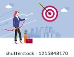 archery and business woman.... | Shutterstock .eps vector #1215848170