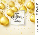 christmas background with tree... | Shutterstock .eps vector #1215848650