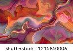 lovely pink suminagashi art... | Shutterstock . vector #1215850006