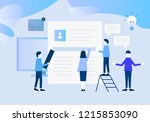 vector illustration concept for ... | Shutterstock .eps vector #1215853090