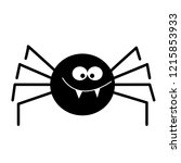 simple vector of a black spider. | Shutterstock .eps vector #1215853933
