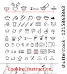cooking and preparation... | Shutterstock .eps vector #1215863863