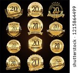 retro vintage anniversary... | Shutterstock .eps vector #1215864499