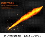 hot fire energy trail  ... | Shutterstock .eps vector #1215864913