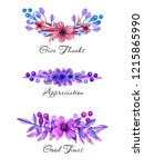 watercolor floral ornaments for ... | Shutterstock . vector #1215865990