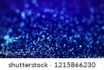 blue glow particles field... | Shutterstock . vector #1215866230