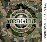 adrenaline on camo pattern   Shutterstock .eps vector #1215870163