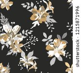 seamless floral pattern.... | Shutterstock .eps vector #1215871996