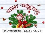 merry christmas taste template... | Shutterstock .eps vector #1215872776