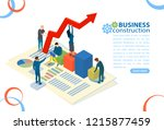 business management and... | Shutterstock .eps vector #1215877459