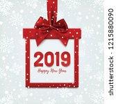 happy new year 2019 design ... | Shutterstock .eps vector #1215880090