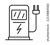 electric car recharge station... | Shutterstock . vector #1215884560
