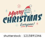 vintage style christmas... | Shutterstock .eps vector #1215891346