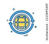 globe icon design vector | Shutterstock .eps vector #1215895309