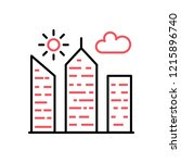 city building thin line icon | Shutterstock . vector #1215896740