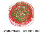 colored tangled on white. chaos ... | Shutterstock .eps vector #1215898180