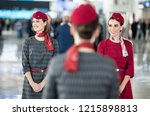 Small photo of Turkey's Prime Minister Recep Tayyip Erdogan, has opened a new airport in Istanbul. Istanbul Airport was the new name. Turkish Airlines Air Hostesses welcomed guests 29 OCTOBER 218 Istanbul at Turkey