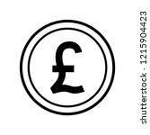 pound sterling icon vector | Shutterstock .eps vector #1215904423