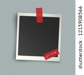 retro realistic vertical blank...   Shutterstock .eps vector #1215908566