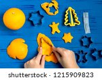 child making decorations of... | Shutterstock . vector #1215909823