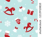 christmas seamless pattern with ... | Shutterstock .eps vector #1215910810
