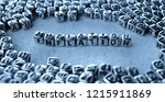 inflation   word from metal... | Shutterstock . vector #1215911869