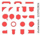 ribbon vector icon set on white ... | Shutterstock .eps vector #1215912826