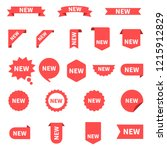 new sticker set labels. product ... | Shutterstock .eps vector #1215912829