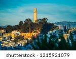 coit tower in san francisco | Shutterstock . vector #1215921079